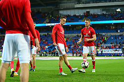 Tom Lockyer of Wales warms up for Wales - Mandatory by-line: Dougie Allward/JMP - 02/09/2017 - FOOTBALL - Cardiff City Stadium - Cardiff, Wales - Wales v Austria - FIFA World Cup Qualifier 2018