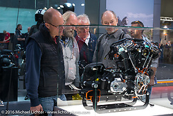 Harley-Davidson Motorcycles display at the Intermot Motorcycle Trade Fair. Cologne, Germany. Thursday October 6, 2016. Photography ©2016 Michael Lichter.