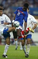 Fotball<br /> EM-kvalifisering<br /> Frankrike v Israel<br /> 4. september 2004<br /> Foto: Digitalsport<br /> NORWAY ONLY<br /> LOUIS SAHA (FRA) / KLEMI SABAN RAHAMIM (ISR)