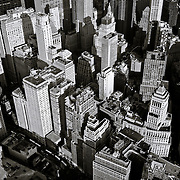 Black and White of older Manhattan density in the general area of the Financial District