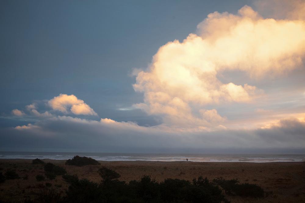 Twilight at the Oregon Coast in Gearhart.
