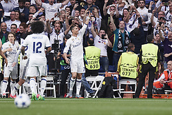 May 2, 2017 - Madrid, Spain - Cristiano Ronaldo (forward; Real Madrid) watched the Champions League, semifinal match between Real Madrid and Atletico de Madrid at Santiago Bernabeu Stadium on May 2, 2017 in Madrid, Spain (Credit Image: © Jack Abuin via ZUMA Wire)