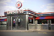 The exterior of OK Diner on the 20th May 2010 in Tickencote in the United Kingdom. This small chain of American themed diners can be seen along the A1.