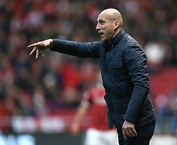 Reading manager Jaap Stam gestures on the touchline