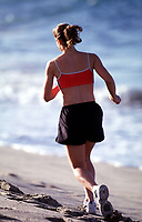 Apr 02, 2003; Huntington Beach, CA, USA; Model ANDREA WILSON goes for an early morning workout run in the sand.  Stock Photo. Model release available upon request. <br />Mandatory Credit: Photo by Shelly Castellano/ZUMA Press.<br />(©) Copyright 2003 by Shelly Castellano