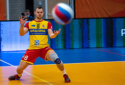 Freek de Weijer of Dynamo in action during the cup final between Amysoft Lycurgus vs. Draisma Dynamo on April 18, 2021 in sports hall Alfa College in Groningen