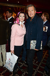 CLEO ROCOS and MARIO TESTINO at a party to celebrate the publication of 'Passion for Life' by Joan Collins held at No41 The Westbury Hotel, Mayfair, London on21st October 2013.
