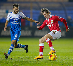 Luke Freeman of Bristol City is challenged by Jack Payne of Peterborough United - Photo mandatory by-line: Rogan Thomson/JMP - 07966 386802 - 28/11/2014 - SPORT - FOOTBALL - Peterborough, England - ABAX Stadium - Peterborough United v Bristol City - Sky Bet League 1.