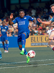 May 28, 2017 - Hong Kong, Hong Kong SAR, China - Josh Eppiah kicks the ball away from the Aston Villas player.Leicester City win their second HKFC Citi Soccer Sevens title following a 3-0 victory over defending champions Aston Villa in the final.2017 Hong Kong Soccer Sevens at the Hong Kong Football Club Causeway Bay. (Credit Image: © Jayne Russell via ZUMA Wire)