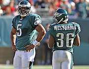 Donovan McNabb and Brian Westbrook during game between the Philadelphia Eagles and the Atlanta Falcons at Lincoln Financial Field in Philadelphia, Pennsylvania on October 26, 2008.
