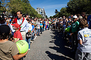 Roland Garros 2011. Paris, France. May 28th 2011..People and kids wait for players.