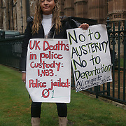 Protesters gather in London to protest against police Bill legislation