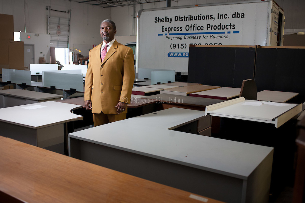 Portrait of Julian Grubbs, president of Shelby Distributions Inc., dba Express Office Products in El Paso Texas on Aug 31, 2011.