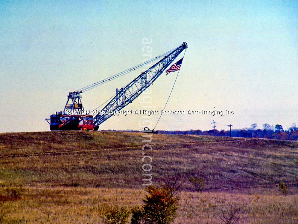 View of Crash site post Shanksville PA Post 9/11, crane removing debris of plane