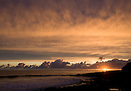Sunset & clouds on West Cliff, Santa Cruz, California