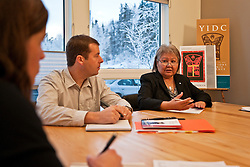 Judy Gingell and Stanley Noel of Yukon Indian Development Corporation in Whitehorse