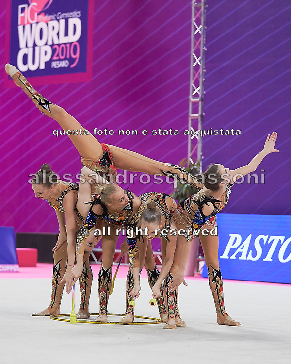 The russian team during the final of the World Cup  on April 7, 2019 in Pesaro, Italy.