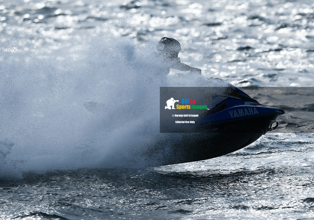 PATTAYA, THAILAND - DECEMBER 09: Teera Settura (51) of Thailand and Yamaha Wave Runner Singha Thailand in action during the Pro Runabout 1100 Open Moto4 at the Thai Airways International Jet Ski World Cup 2018, Jomtien Beach, Pattaya, Thailand on December 09, 2018. <br /> .<br /> .<br /> .<br /> (Photo by: Naratip Golf Srisupab/SEALs Sports Images)<br /> .<br /> Any image use must include a mandatory credit line adjacent to the content which should read: Naratip Golf Srisupab/SEALs Sports Images