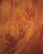 Sinagua handprint pictographs Coconino Nat Forest Sedona AZ