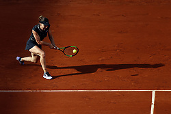 May 28, 2019 - Paris, France - Romania's Simona HALEP walks during the women's singles first round of the French Open tennis tournament against Australia's Ajla TOMLJANOVIC at Roland Garros in Paris, France on May 28, 2019. (Photo by Mehdi Taamallah) (Credit Image: © Mehdi Taamallah/NurPhoto via ZUMA Press)