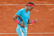 Rafael NADAL (ESP) celebration during the Roland Garros 2020, Grand Slam tennis tournament, on October 9, 2020 at Roland Garros stadium in Paris, France - Photo Stephane Allaman / ProSportsImages / DPPI