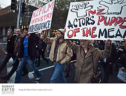 On Oct 20 2010 a group of film technicians, artisans, actors and production crew including Weta Workshop founder Sir Richard Taylor (as a concerned member of the Wellington Film community), actors including Jed Brophy, artists such as Gino Acevedo and John Howe, directors Jonathan King and Peter Briggs, Hobbit writer and producer Philippa Boyens and many more met to discuss the industrial action surrounding production of The Hobbit in Wellington.  A meeting of New Zealand Actors' Equity / Media Entertainment and Arts Alliance was scheduled for later the same evening; the decision was made for technicians to travel from Stone St Studio in Miramar to central Wellington to protest the worldwide boycott called by the MEAA against the production, which resulted in a march on Parliament grounds.