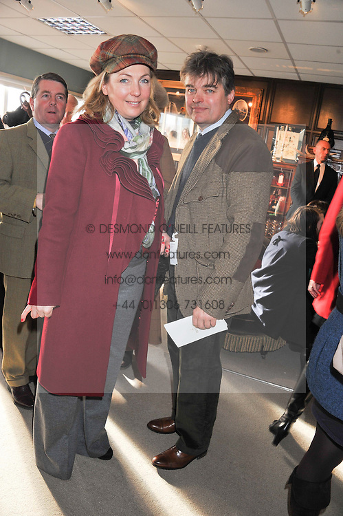 The EARL & COUNTESS OF CARNARVON at the 2012 Hennessy Gold Cup at Newbury Racecourse, Berkshire on 1st December 2012