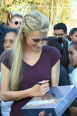 Paris Hilton visiting the community hit by earthquake - 12 Nov 2018