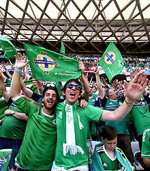 Northern Ireland fans  - Mandatory by-line: Joe Meredith/JMP - 12/06/2016 - FOOTBALL - Stade de Nice - Nice, France - Poland v Northern Ireland - UEFA European Championship Group C