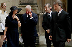 The Prince of Wales leaves the funeral of Countess Mountbatten of Burma at St Paul's Church, Knightsbridge, London.