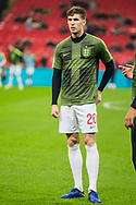 John Stones (England) warming up ahead of the international Friendly match between England and USA at Wembley Stadium, London, England on 15 November 2018.