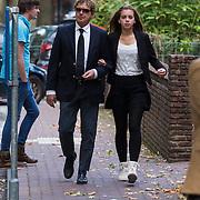 NLD/Laren/20130102 - Uitvaart John de Mol Sr., Hans van Hemert en dochter Hannah
