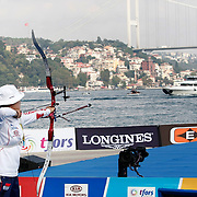 HAN Gyeonghee (KOR) competes in Archery World Cup Final in Istanbul, Turkey, Sunday, September 25, 2011. Photo by TURKPIX