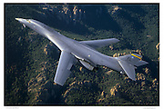 B-1B bomber in Black Hills, air-to-air