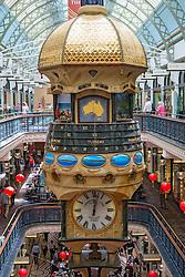 Interior of historic Queen Victoria Building or QVB shopping arcade in central Sydney Australia
