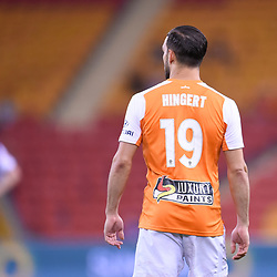 BRISBANE, AUSTRALIA - DECEMBER 21: Jack Hingert of the Roar looks on during the Round 12 Hyundai A-League match between Brisbane Roar and Perth Glory on December 21, 2017 in Brisbane, Australia. (Photo by Patrick Kearney / Brisbane Roar FC)