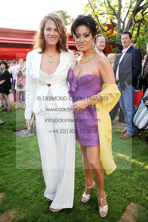Left to right, TRACEY EMIN and NANCY DELL'OLIO at the annual Serpentine Gallery Summer party this year sponsored by Jaguar held at the Serpentine Gallery, Kensington Gardens, London on 8th July 2010.  2010 marks the 40th anniversary of the Serpentine Gallery and the 10th Pavilion.