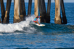 Eva Woodland (CRI) advances to the Quarterfinals of the 2918 Junior Women's VANS US Open of Surfing after placing second in Heat 1 of Round 1 at Huntington Beach, CA, USA.