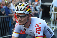 Andre Greipel of Germany and Lotto Soudal before the Tour of Britain 2016 stage 8 , London, United Kingdom on 11 September 2016. Photo by Martin Cole.