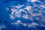 Flying over Patagonia, Chile