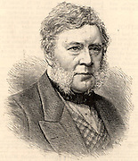 Thomas Bazeley (1797-1885) English cotton manufacturer, merchant and politician. A member of the Anti-Cornlaw League.  Member of Parliament for Manchester 1858-1880.   Engraving from 'The Illustrated London News' (London, 4 April 1885).