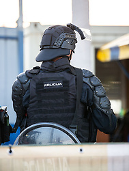 Police during football match between NK Radomlje and NK Maribor in 4th Round of Prva Liga Telemach 2021/22, on August 7, 2021 in Sportni park Domzale, Ljubljana, Slovenia. Photo by Nik Moder / Sportida