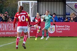 Danique Kerkdijk of Bristol City - Mandatory by-line: Paul Knight/JMP - 28/10/2018 - FOOTBALL - Stoke Gifford Stadium - Bristol, England - Bristol City Women v Arsenal Women - FA Women's Super League