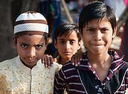 Three boy friends in Bundi (India)