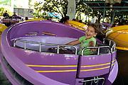 Elli Rose Focht enjoys the rides at Disney in Orlando, Florida.