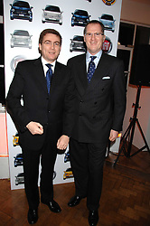 Left to right, LORENZO SISTIBO, CEO of the Fiat brand and ANDREW HUMBERSTONE MD Fiat UK at a party to celebrate the launch of the new Fiat 500 car held at the London Eye, Westminster Bridge Road, London on 21st January 2008.<br />