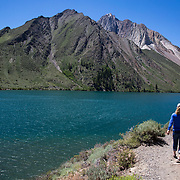 The Convict Lake Loop is a easy two mile hike along the scenic Convict Lake, named for the scene of a shootout between escaped convicts and law enforcement in 1871.