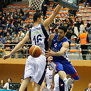 Anadolu Efes's Dogus Balbay (R) during their Turkish Basketball League match Istanbul BSB between Anadolu Efes at Cebeci Arena in Istanbul Turkey on Monday 09 March 2015. Photo by Aykut AKICI/TURKPIX