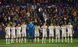 February 24, 2019 - Valencia, Valencia, Spain - Real Madrid players during the La Liga match between Levante and Real Madrid at Estadio Ciutat de Valencia on February 24, 2019 in Valencia, Spain. (Credit Image: © Maria Jose Segovia/NurPhoto via ZUMA Press)