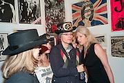 KATHRYN D'HUVERT; TRACY JENKINS; ADAM ANT; BURGIT CUNNINGHAM, Toby Mott exhibition. Haunch of Venison. Burlington Gdns. London. 23 September 2010. -DO NOT ARCHIVE-© Copyright Photograph by Dafydd Jones. 248 Clapham Rd. London SW9 0PZ. Tel 0207 820 0771. www.dafjones.com.